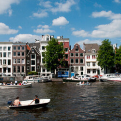 next to AMSTEL houseboat rental Amsterdam